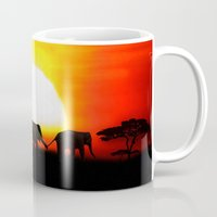 africa Mugs featuring Africa by Selina Morgan