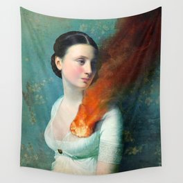 Portrait of a Heart Wall Tapestry