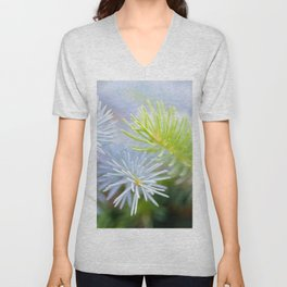 Two fir branches close-up shot Unisex V-Neck