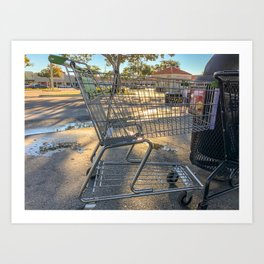 Shopping cart Art Print