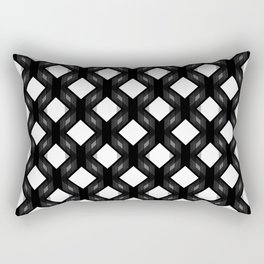 Retro-Delight - Diamond Division - Black Rectangular Pillow