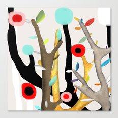 Woodland Poppy Botanical Canvas Print