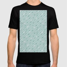 Summer Rain Black Mens Fitted Tee SMALL