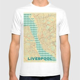 Liverpool Map Retro T-shirt