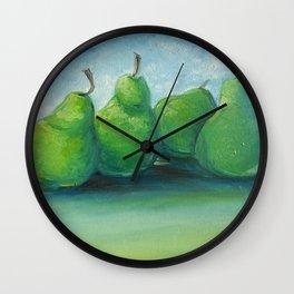 Rolly Polly Pears Wall Clock