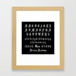 Arcana Academy - Alphabet Framed Art Print