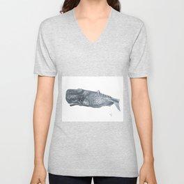 Gray Whale Unisex V-Neck