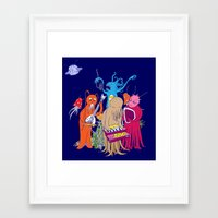 space jam Framed Art Prints featuring Space Jam by Morbid Illusion