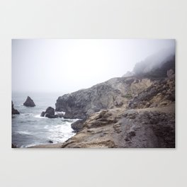 Foggy California Coast Canvas Print