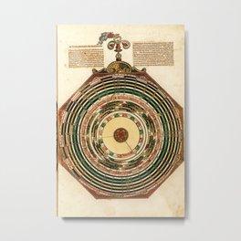 Peter Apian - Astronomicum Caesareum 1540 - Plate 19 Predictions of Eclipses of the Sun and Moon Metal Print
