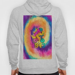 Bicycle acid 1943 on a tie dye background. Hoody