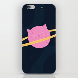 Planet cat-urn iPhone Skin