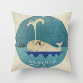 ahab et moby Throw Pillow