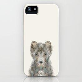 little grey wolf iPhone Case