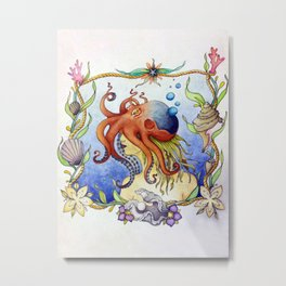 Octopus Wench Metal Print