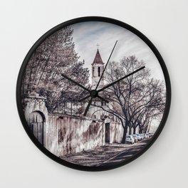 Urban Winter Scene at Gianicolo District, Rome, Italy Wall Clock