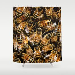 Honey Bees Shower Curtain