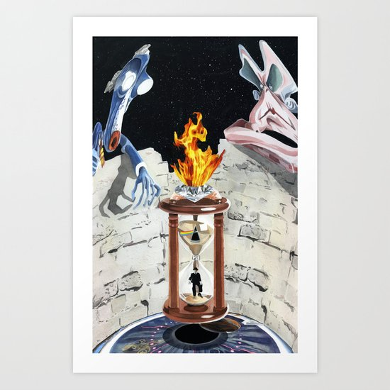 Rock & Roll Comics: Pink Floyd Art Print