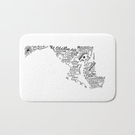 Maryland - Hand Lettered Map Bath Mat