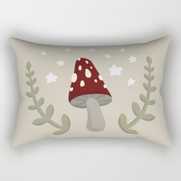 Mushroom Illustration Rectangular Pillow