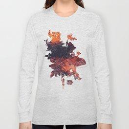 Mask Flow Fire Long Sleeve T-shirt