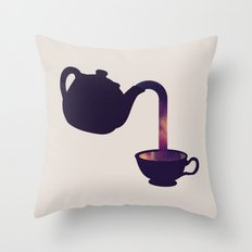 Cuppa Galaxy Throw Pillow