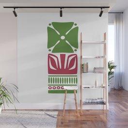 Nordic Green Flower Wall Mural
