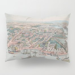 Vintage Pictorial Map of Annapolis MD (1864) Pillow Sham