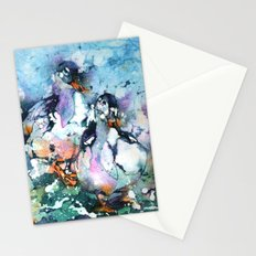 Two Batty Ducks Stationery Cards