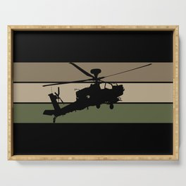 Apache Helicopter Serving Tray