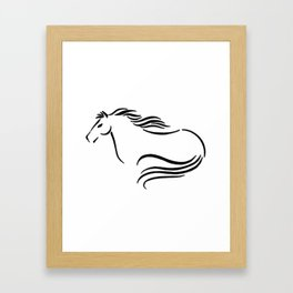 Swift Mare Stylized Inking Framed Art Print