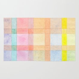 Pastel colored Watercolors Check Pattern Rug