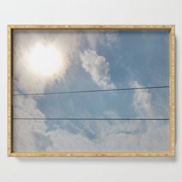 clouds and wire, asrc, no.1 Serving Tray