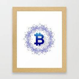 Bitcoin 5 Framed Art Print
