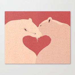 Bear Kiss Canvas Print