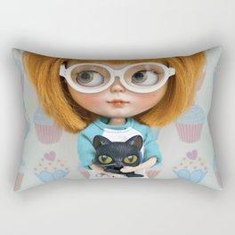 Erregiro Blythe Custom Doll Carmencita & Sócrates Rectangular Pillow