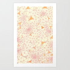 an abundance of triangular amoebas Art Print