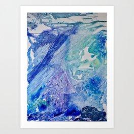 Water Scarab Fossil Under the Ocean, Environmental Art Print