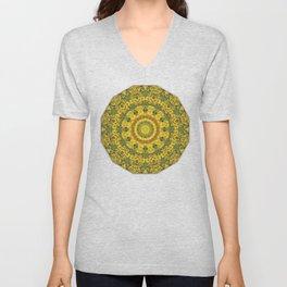 Sunflowers, Floral mandala-style, Flower Mandala Unisex V-Neck