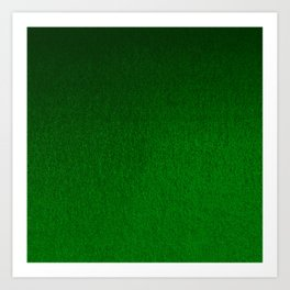 Emerald Green Ombre Design Art Print