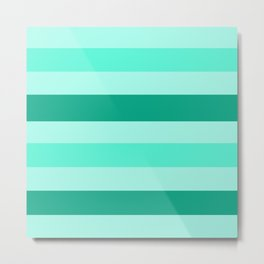 Winter Mint Candy - Color Therapy Metal Print
