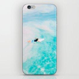 Surfing, surf in California iPhone Skin