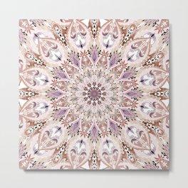 Bohemian Soul Mandala Pastel Metal Print