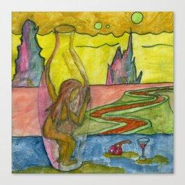 Bottled Woman (watercolor) Canvas Print