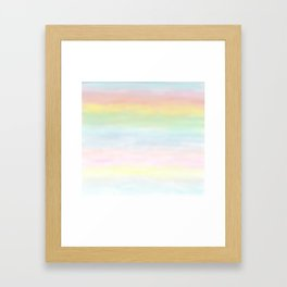 pastel rainbow gradient loved by unicorns Framed Art Print