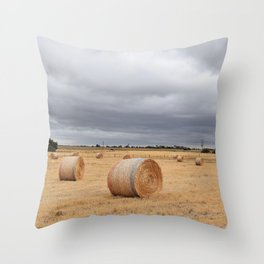 Roll Out the Hay Throw Pillow