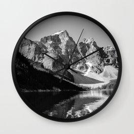 Moraine Lake (Black & White) Wall Clock