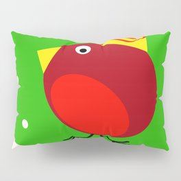 Merry Christmas Robin Pillow Sham