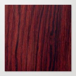 Deep red wood veneer design Canvas Print