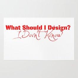 What Should I Design? Red Rug